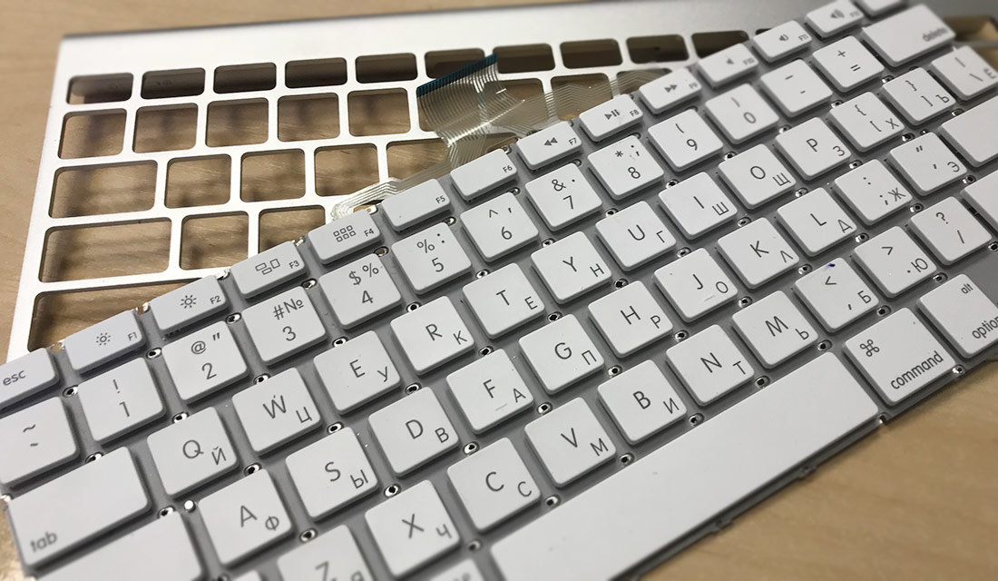 как разобрать Apple Wireless Keyboard