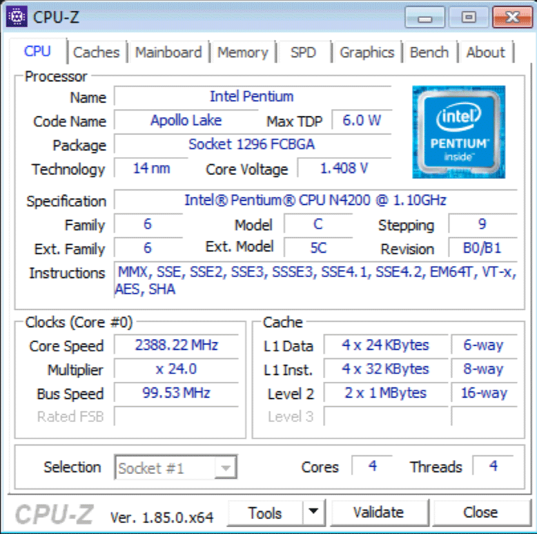 Intel Apollo Lake