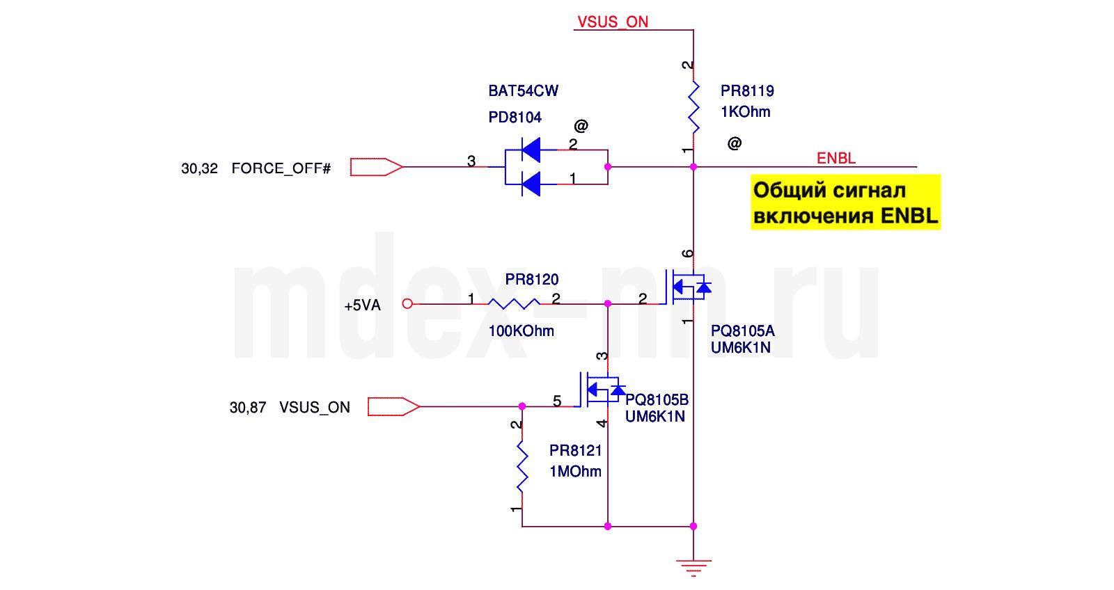 сигнал включения шима дежурки ENBL