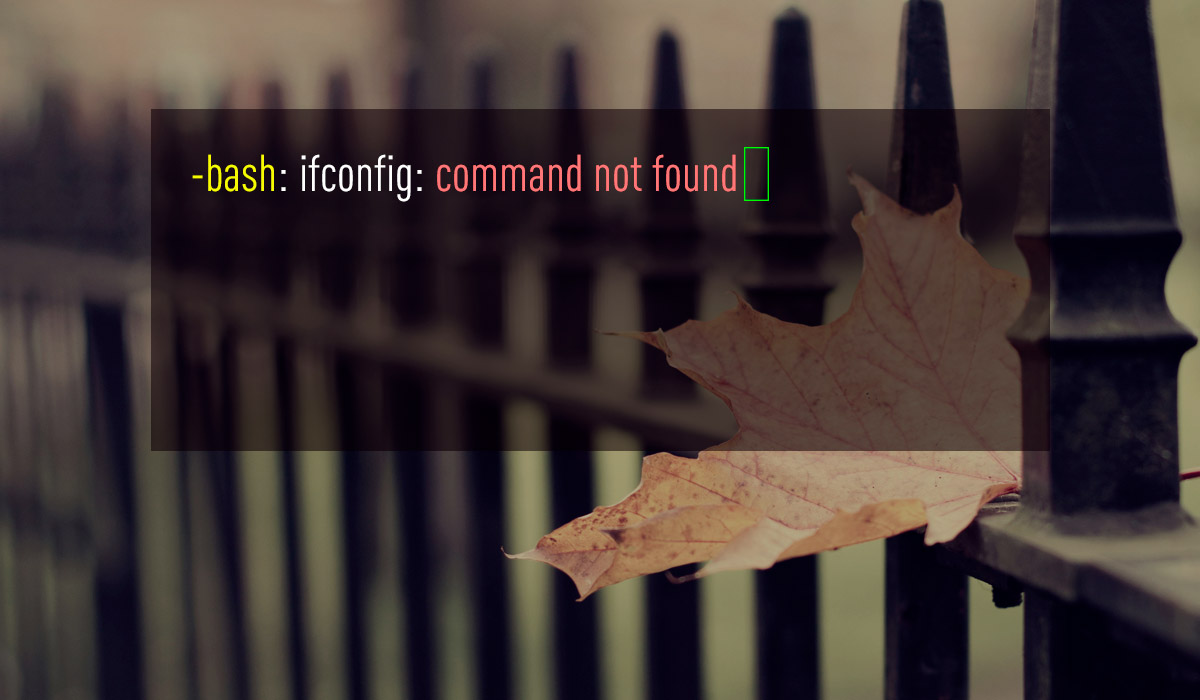 ifconfig: command not found