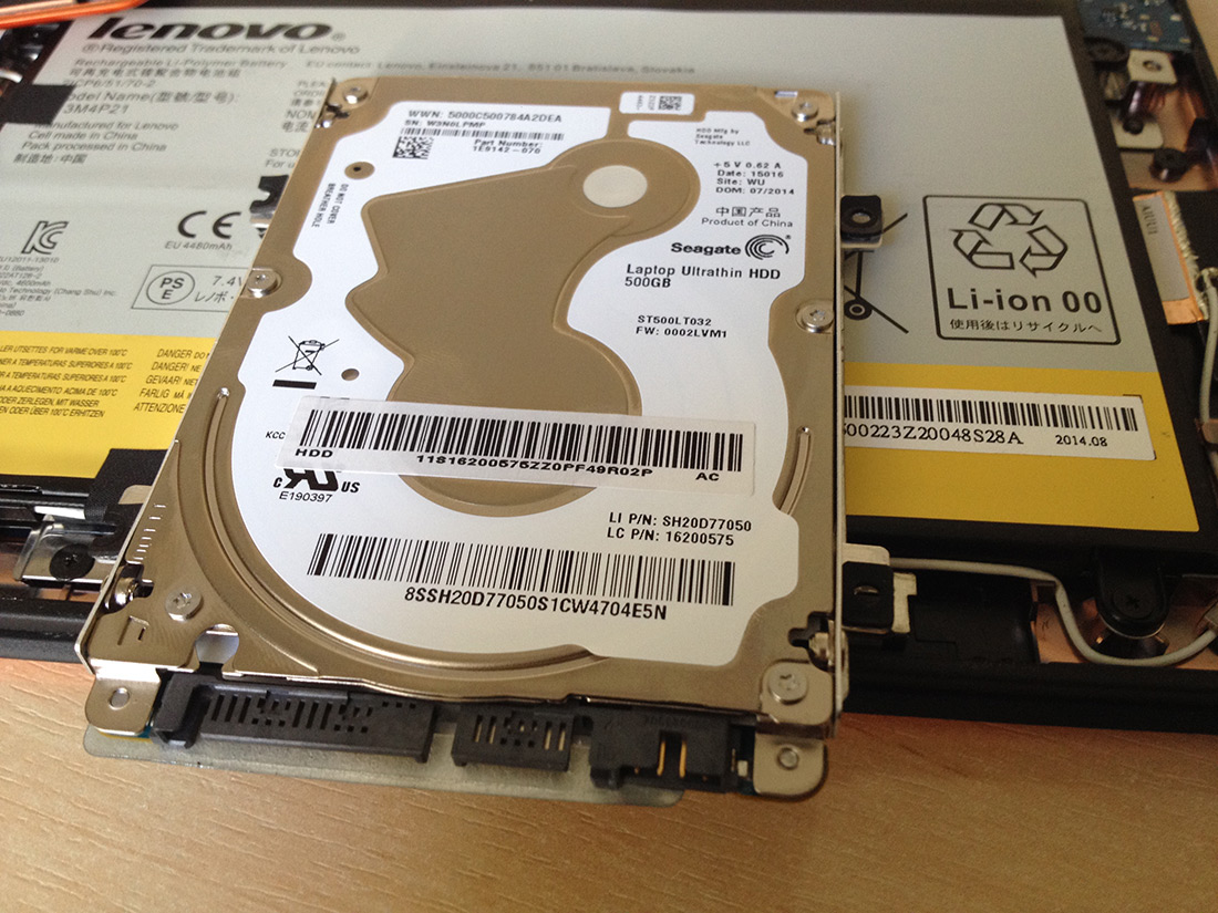 HDD Seagate ST500LT032 из Lenovo IdeaPad Yoga