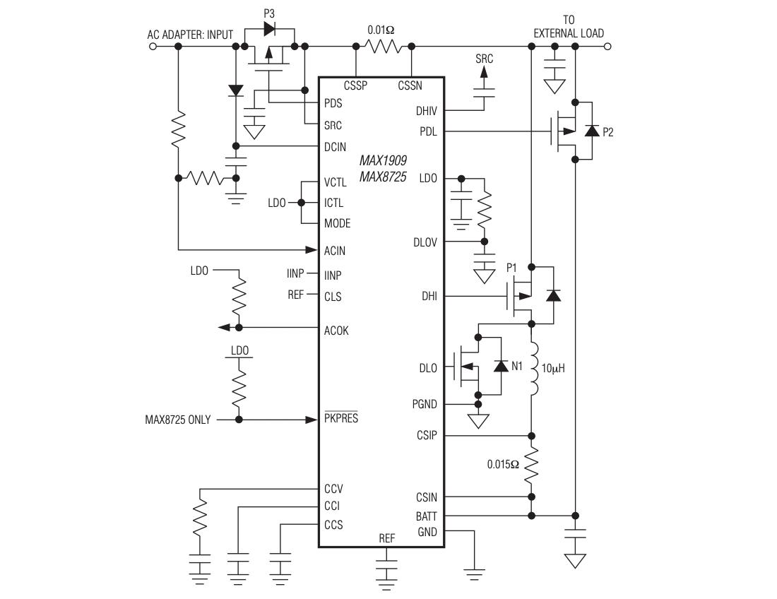 схема контроллера MAX8725
