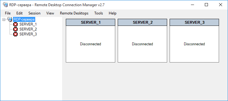 Remote Desktop Connection Manager (RDCMan)