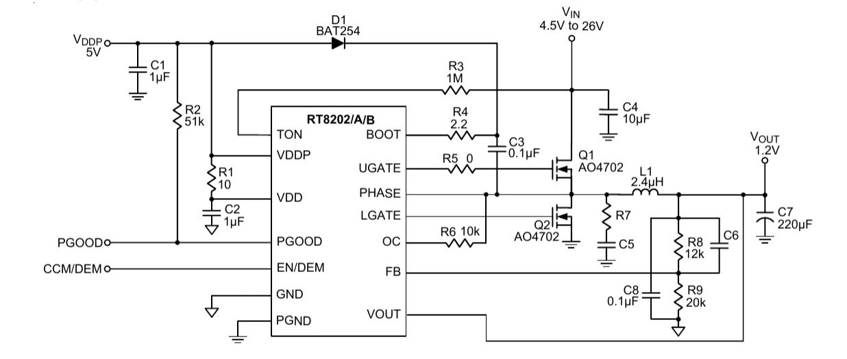 шимконтроллер RT8202APQW