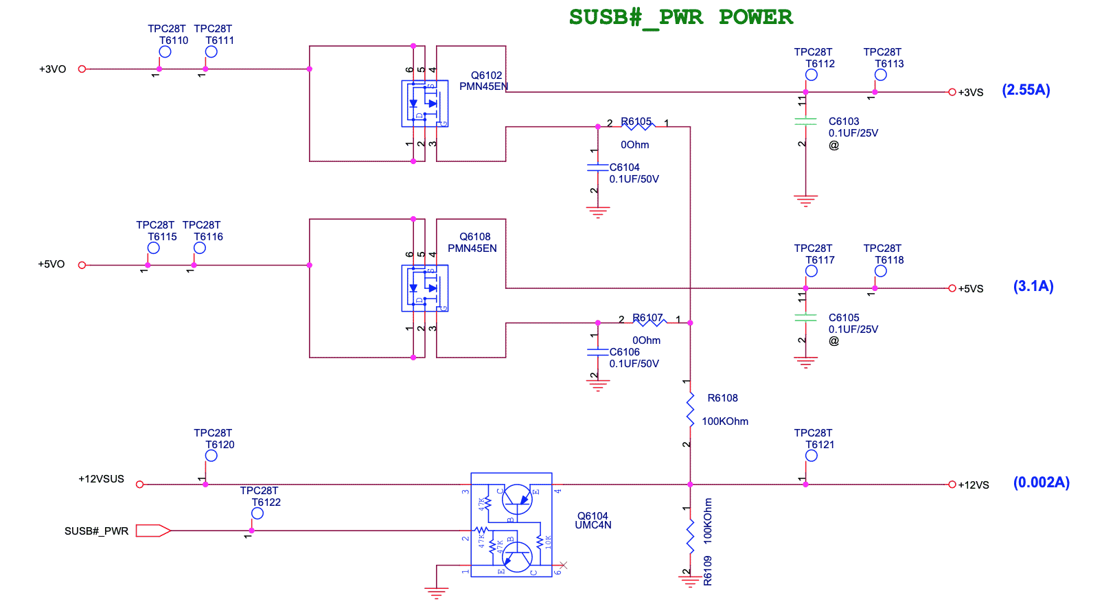 сигналы SUSC_EC# и SUSB_EC#