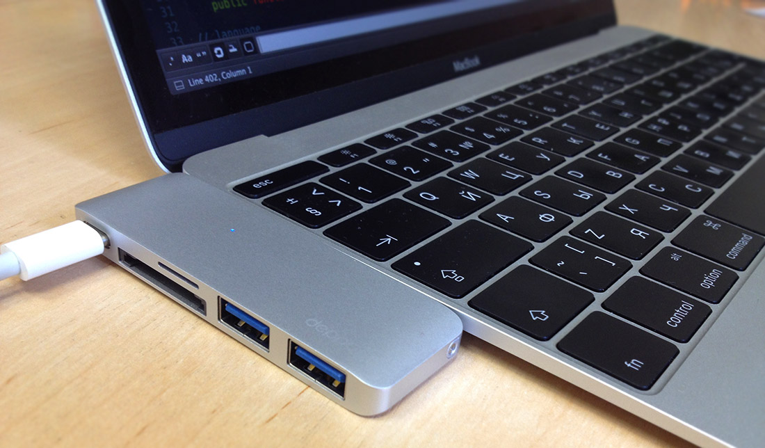 Deppa USB-C адаптер для MacBook. Обзор адаптера для MacBook.